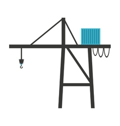 Crane hook lifting icon vector