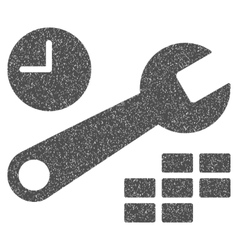 Date and time configuration grainy texture icon vector