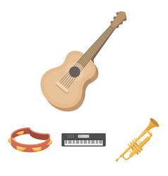 electro organ trumpet tambourine string guitar vector image