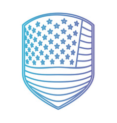 Emblem of flag united states of america in color vector