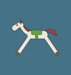 Flat icon design collection rocking horse vector