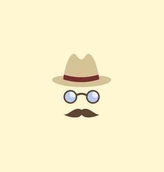 flat icon detective element vector image