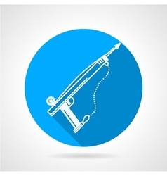 Flat round icon for harpoon vector