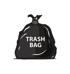 garbage bag icon vector image vector image
