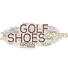 Golf shoes pros and cons text background word vector