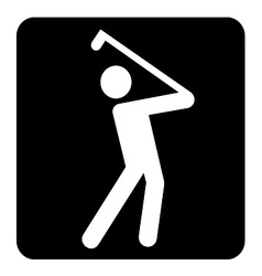 Golf Sign vector image vector image
