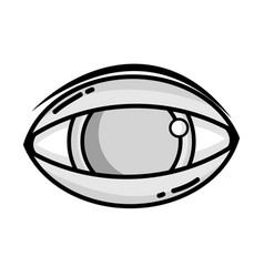 grayscale human eye to optical vision icon vector image vector image