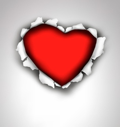 Heart made of ripped paper Valentines day vector image