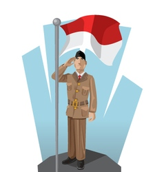 Indonesian Patriot vector image vector image
