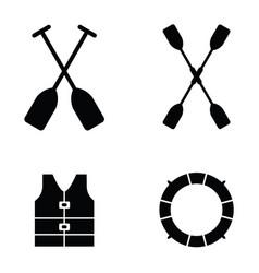 kayak icons vector image