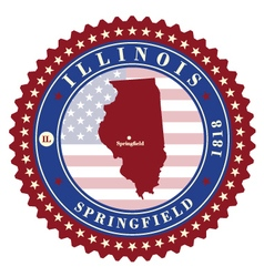 Label sticker cards of state illinois usa vector