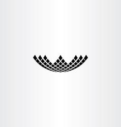 Letter w halftone symbol black design vector