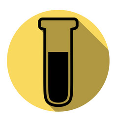Medical tube icon laboratory glass sign vector