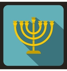Menorah icon in flat style vector