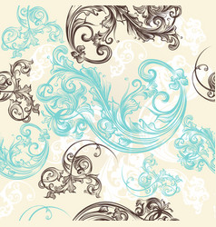 ornamental seamless wallpaper pattern vector image vector image
