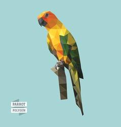 Parrot polygon vector