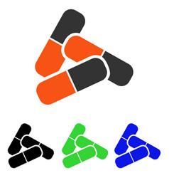 Pills flat icon vector