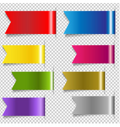 Red discount ribbons vector