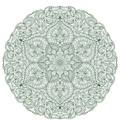 Round Mandala with hand-drawn decorative elements vector image