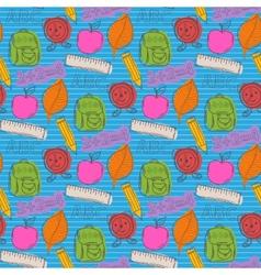 School pattern with color blots vector image