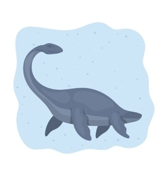 Sea dinosaur icon in cartoon style isolated on vector image vector image