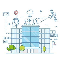 Smart modern city and internet of things vector