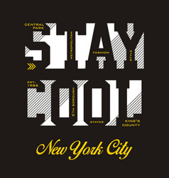 stay cool new york city vector image vector image