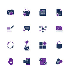 Style and clean icons pack for webdesign or mobile vector