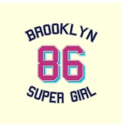 super girl typography t-shirt graphics vector image vector image