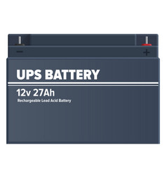 Ups rechargeable lead-acid battery isolated vector