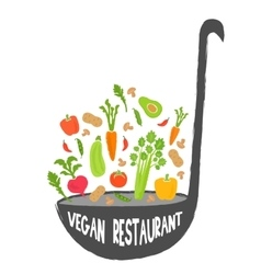Vegan restaurant healthy food background vector image