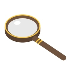 Magnifier search loupe icon vector