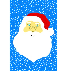 Face of Santa Claus vector image