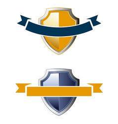 shield ribbon icons vector image