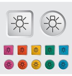Bulb icon2 vector image