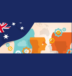 Australia concept of thinking growing innovation vector