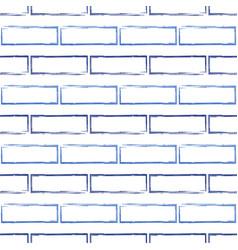 seamless pattern of stylized blue brick wall vector image