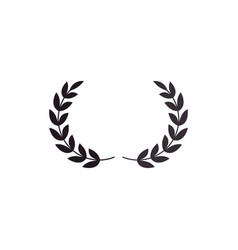 Wreath leafs crown icon vector
