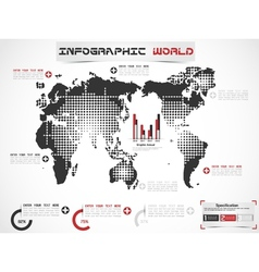 Infographic world modern edition vector