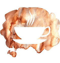 Cofee watercolor vector