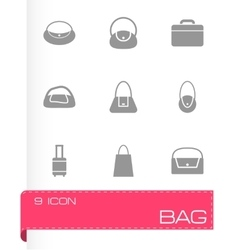 Black bag icon set vector