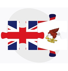 United kingdom and american samoa flags vector