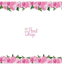 Border with peonies vector