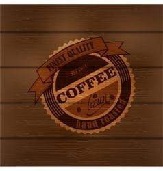 Coffee logo emblem retro design template vector image
