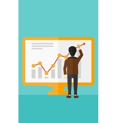 Businessman presenting report vector