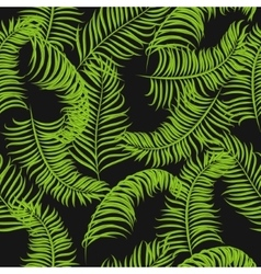 Tropical jungle palm leaves pattern vector