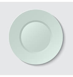 Empty plate on gray vector