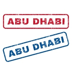 Abu dhabi rubber stamps vector