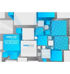 background with 3d cubes vector image