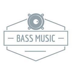 Bass music logo simple gray style vector